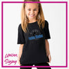 Fusion Studios Bling Basic Tee with Vinyl Logo