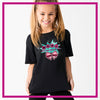 Mile High Cheer Glitter Vinyl Basic Tee with Rhinestone Logo
