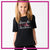 Extreme Kids Dance Academy Bling Basic Tee with Rhinestone Logo