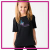 Ignite Bling Basic Tee with Rhinestone Logo