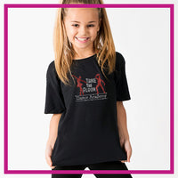 Take the Floor Dance Academy Bling Basic Tee with Rhinestone Logo