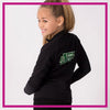 Buffalo Envy Bling Cadet Jacket with Rhinestone Logo (Black)
