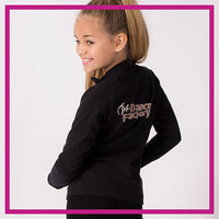 The Dance Factory Bling Cadet Jacket with Rhinestone Logo