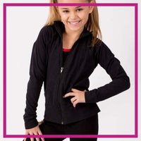 CADETJACKET-FRONT-lisas-dance-boutique-glitterstarz-custom-rhinestone-jacket-with-bling-logos