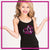 MOT Allstars Bling Cami Tank Top with Rhinestone Logo