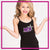 RCA Bling Cami Tank Top with Rhinestone Logo