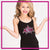 Alpha Athletics Bling Cami Tank Top with Rhinestone Logo
