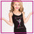 Ballet Academy of Moses Lake Bling Cami Tank Top with Rhinestone Logo