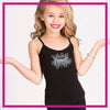 CYSC Elite Force Bling Cami Tank Top with Rhinestone Logo