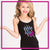 Fear the Bow Bling Cami Tank Top with Rhinestone Logo