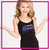 Lincoln Way East Bling Cami Tank Top with Rhinestone Logo
