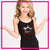 Lisa's Dance Boutique Bling Cami Tank Top with Rhinestone Logo