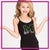 MHS Dance Team Bling Cami Tank Top with Rhinestone Logo