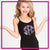 South Elite Cheer Bling Cami Tank Top with Rhinestone Logo