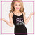 Southern Coast Elite Bling Cami Tank Top with Rhinestone Logo