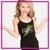 Steppin' Out Dance Center Bling Cami Tank Top with Rhinestone Logo