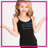 NYTBC Bling Cami Tank Top with Rhinestone Logo