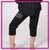 Revolutions All Stars Bling Rollover Capri Leggings with Rhinestone Logo