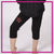 Xtreme Cheer & Dance Bling Rollover Capri Leggings with Rhinestone Logo