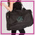 YDA Dance Bling Duffel Bag with Rhinestone Logo