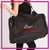 Lisa's Dance Boutique Bling Duffel Bag with Rhinestone Logo