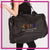 Maria's School of Dance Bling Duffel Bag with Rhinestone Logo