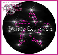 Dance Explosion and Events Bling Fleece Jacket with Rhinestone Logo