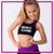 Extreme Spirit Allstarz Everyday Essential Sports Bra with Rhinestone Logo