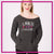 AMKM Bling Favorite Comfy Sweatshirt with Rhinestone Logo