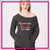 My Heart Beats in 8 Counts Bling Favorite Comfy Sweatshirt with Rhinestone Logo