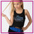 Blizz Allstar Cheerleading Bling Festival Tank with Rhinestone Logo