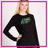 Buffalo Envy Long Sleeve Bling Shirt with Rhinestone Logo (Black)