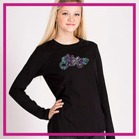 FITTED-LONGSLEEVEBASIC-nor-easternGlitterStarz-Custom-Rhinestone-Apparel-for-Cheerleading-and-Dance