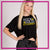 Rock Solid Academy Bling Crop Top with Rhinestone Logo