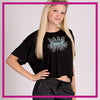 CYSC Elite Force Bling Crop Top with Rhinestone Logo