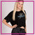 Fusion Studios Bling Flowy Crop Top with Rhinestone Logo