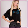 NYTBC Bling Crop Top with Rhinestone Logo