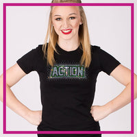 Fitted-Short-Sleeve-Tshirt-ACTION-GlitterStarz-Custom-Rhinestone-Bling-Apparel-for-Cheer-and-Dance
