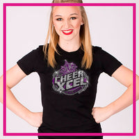 Fitted-Short-Sleeve-Tshirt-Cheer-Xcel-GlitterStarz-Custom-Rhinestone-Bling-Apparel-for-Cheer-and-Dance