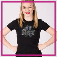 Fitted-Short-Sleeve-Tshirt-North-Collinwood-Thundercats-GlitterStarz-Custom-Rhinestone-Bling-Apparel-for-Cheer-and-Dance