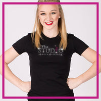 Fitted-Short-Sleeve-Tshirt-The-Studio-Dance-Company-GlitterStarz-Custom-Rhinestone-Bling-Apparel-for-Cheer-and-Dance