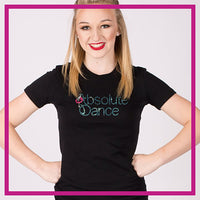 Fitted-Short-Sleeve-Tshirt-absolute-dance-GlitterStarz-Custom-Rhinestone-Bling-Apparel-for-Cheer-and-Dance