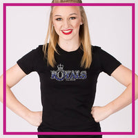 Fitted-Short-Sleeve-Tshirt-midwest-royals-GlitterStarz-Custom-Rhinestone-Bling-Apparel-for-Cheer-and-Dance
