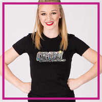 Fitted-Short-Sleeve-Tshirt-omni-elite-GlitterStarz-Custom-Rhinestone-Bling-Apparel-for-Cheer-and-Dance