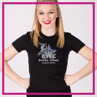 Fitted-Short-Sleeve-Tshirt-westernettes-GlitterStarz-Custom-Rhinestone-Bling-Apparel-for-Cheer-and-Dance