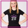 Fitted-Tshirt-212-elite-cheer-GlitterStarz-Custom-Rhinestone-Bling-Apparel-for-Cheer-and-Dance