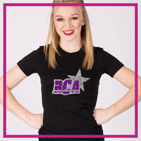 Fitted-Tshirt-RCA-GlitterStarz-Custom-Rhinestone-Bling-Apparel-for-Cheer-and-Dance