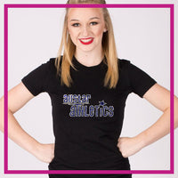 Fitted-Tshirt-allstar-athletics-GlitterStarz-Custom-Rhinestone-Bling-Apparel-for-Cheer-and-Dance