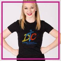 Fitted-Tshirt-dancing-through-the-curriculum-GlitterStarz-Custom-Rhinestone-Bling-Apparel-for-Cheer-and-Dance
