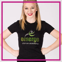 Fitted-Tshirt-emerge-dance-academy-GlitterStarz-Custom-Rhinestone-Bling-Apparel-for-Cheer-and-Dance